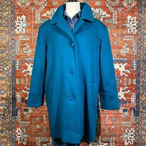 Vintage Virgin Wool Overcoat / Mod